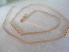 1970s Vintage US AVON Dainty Goldtone Beaded Necklace Jewelry