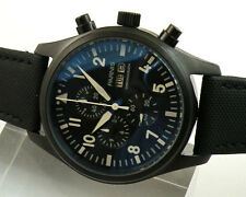 parnis 42mm steel quartz Full chronograph mens womens Date Day  watch 870