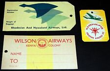 VINTAGE AFRICAN AVIATION BAGGAGE TAGS