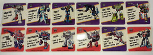 1985 TRANSFORMERS ACTION TRADING CARD MOTTO STICKER STRIPS G1 HASBRO 12 STICKERS