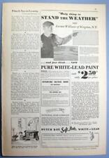 Orig 1932 Dutch Boy Ad Photo Endorsed Farmer Willians of Kingston, New York