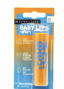 MAYBELLINE NEW YORK BABY LIPS SPORT LIP BALM 30 SEAS THE BLUE NEW IN PACKET