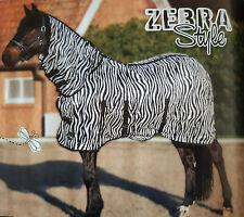 HKM Zebra Combo Ekzemer Fliegendecke Größe 95 bis 165 mit Halsteil und Bauchlatz