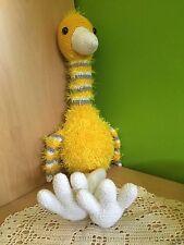 Oiseau doudou jouet peluche amigurumi environ 60 cm fait main crochet d'art