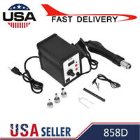 110V 858D 700W Electric Hot Air Heat G un Soldering Station Desoldering Tool LED