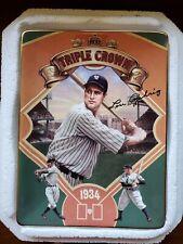 Vintage Triple Crown Champions Lou Gehrig Plate - The Bradford Exchange
