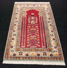 Türkischer Orient Teppich 135 x 89 cm Rot Hereke Kayseri Turkish Red Carpet Rug