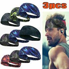 3X Mens Women Sweat Sweatband Headband Yoga Gym Running Stretch Sports Head Band