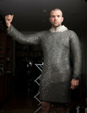 Flat Riveted With Flat Warser Chainmail shirt 8 mm Medium Size Full sleeve Huber