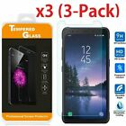 """(3 Pack) Premium Tempered Glass Screen Protector For """"Samsung Galaxy S8 Active"""""""