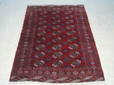 Exceptional Antique Turkoman Princess Bokhara Oriental Rug Carpet Dowry 40x60""