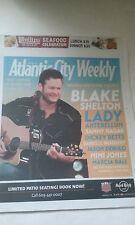 BLAKE SHELTON COVER ATLANTIC CITY  PAPER JULY 31-AUGUST 7, 2014 NEVER READ