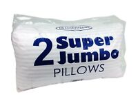 Big Jumbo Pillows Hotel Quality Striped Extra Large Pillows Pack 2 KING Bed Size