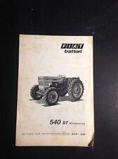 Tracteur - Fiat 540 - Supplément - Trattori - Notice - Manuel d'entretien - B17