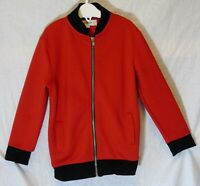 Boys River Island Red Black Textured Zipper Fronted Bomber Jacket Age 3-4 Years