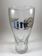 Miller Lite Pilsner Glass Collectible grooved brewery beer mint