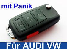 3tasten Clé Rabattable boîtier Vierge avec Panik pour Audi, VW, SEAT, Skoda