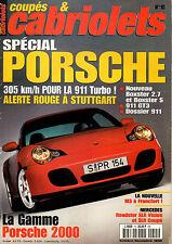 REVUE MAGAZINE COUPES & CABRIOLETS N°15 10/1999 PORSCHE 911 TURBO GT3 BOXSTER