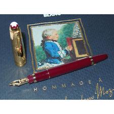 NOS* Montblanc Meisterstuck 1141 Mozart Fountain Pen Bordeaux Solitaire Doue M