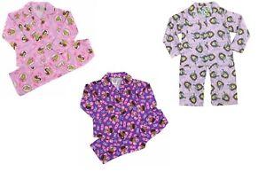 Girls Pyjamas 3 Pack Set Disney Princess Sofia & Doc Mcstuffins Flannel