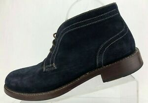 Johnston Murphy Chukka Pearson Blue Suede Casual Brogue Ankle Boots Mens 9.5 M
