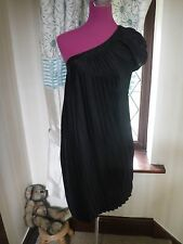 Stunning All Saints Maia One Shoulder Dress Black Size 8 Excellent Condition