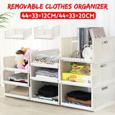 Multi Use Stackable Drawer Vertical Storage Basket Wardrobe Organizing Box