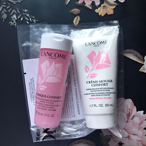 New Lancome Creme Mousse Confort Cleanser 50 ml + Tonique Confort Toner 50 ml