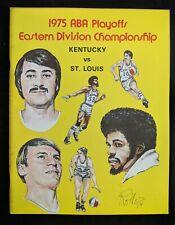 1975 Kentucky vs St Louis ABA Basketball Program