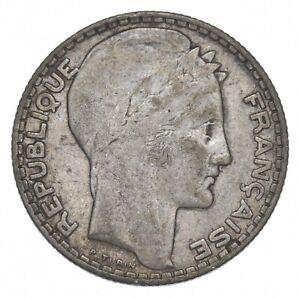 SILVER - WORLD Coin - 1930 France 10 Francs - World Silver Coin *147