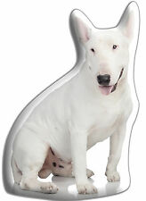 """English Bull Terrier Gift – Beautiful Large 'Cuddle Cushion' approx 18"""" x 16"""""""