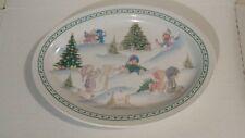 1996 Precious Moments Enesco Serving Plate Christmas Platter Dinnerware