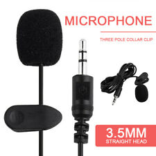 3.5mm Lavalier Lapel Clip-on Microphone for Mobile Celling Phone PC Laptop