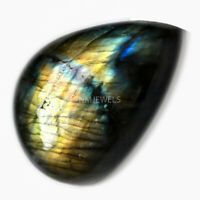 Cts. 41.40 Natural Multi Fire Labradorite Cab Pear Cabochon Loose Gemstone