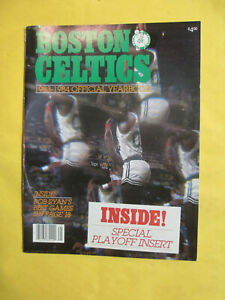 BOSTON CELTICS 1983-84 OFFICIAL YEARBOOK LARRY BIRD EXCELLENT CONDITION