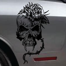 Barbed Wire Skull Rose Graphic Tailgate Side Decal Vehicle Truck Tattoo Vinyl