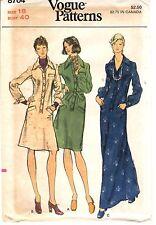 Vintage 1970s Vogue Sewing Pattern Women's LONG SHORT SHIRT DRESS 8704 18 UNCUT