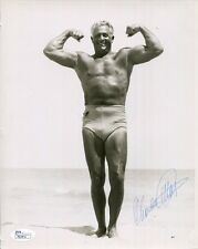 Charles Atlas Hand Signed 8x10 Photo Awesome+Rare Pose Of Him Flexing Jsa