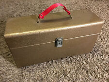 Vintage 45rpm Record Carrying Case METAL Double Wide!