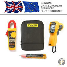 Fluke 325 Digital Clamp Meter kit1m + 62 MAX PLUS Thermomètre + Voltstick + Case