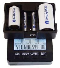 everactive Cargador NC 3000 para AAA, AA, C Y D + 4x everactive Baterías AA