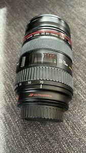Canon EF 24-70mm f/2.8 USM L Lens with Hoya UV Filter