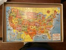 Vintage Victory Wood Jig-Saw Puzzle The United States Of America