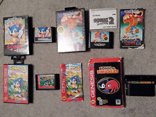 Lot of 4 Sonic the Hedgehog Sega Genesis Video Games 1 2 3 Knuckles All Tested
