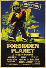 FORBIDDEN PLANET Movie POSTER 27x40 G Walter Pidgeon Anne Francis Leslie Nielsen
