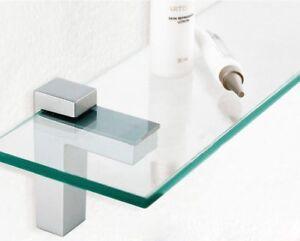 Pair Of Adjustable Glass/Wood Shelf Brackets