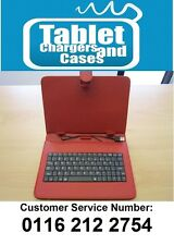 """Red 9"""" USB Keyboard Carry Case/Stand for Toshiba Encore WT8-A-102 Atom Quad Core"""
