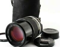 Nikon Ai-S Nikkor 135mm f/3.5 MF Telephoto AiS Lens w/Caps Tokyo Japan Very good