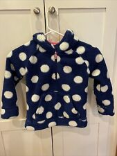 Mini Boden Girls Polka Dot Fleece Pullover Jacket 5 6