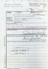 JIMI HENDRIX - Rare Signed Gothenburg Sweden 1968 Arrest Document - preprint